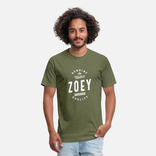 Name T-Shirts - Genuine and Trusted Zoey - Unisex Poly Cotton T-Shirt heather military green