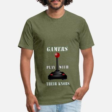 Knob Joystick! Gamers play with their knobs. Gaming - Unisex Poly Cotton T-Shirt