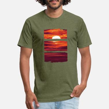 Watercolor Watercolor Sunset - Unisex Poly Cotton T-Shirt