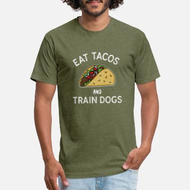 Trained Dog EAT TACOS AND TRAIN DOGS - Unisex Poly Cotton T-Shirt