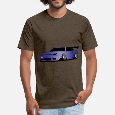 180sx NISSAN 240SX - Fitted Cotton/Poly T-Shirt by Next Level