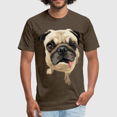 Twinkies Twinky the Pug - Fitted Cotton/Poly T-Shirt by Next Level