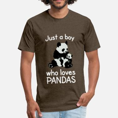 Eating Boy Pussy Just a Boy who loves pandas panda bear cute animal - Fitted Cotton/Poly T-Shirt by Next Level