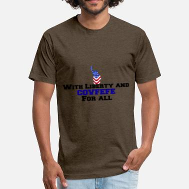 Covfefe Coffee covfefe - Fitted Cotton/Poly T-Shirt by Next Level