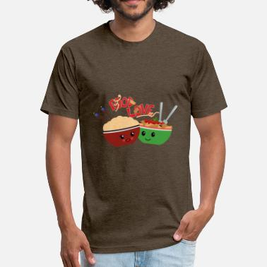 In Love With Food Food Love - Fitted Cotton/Poly T-Shirt by Next Level