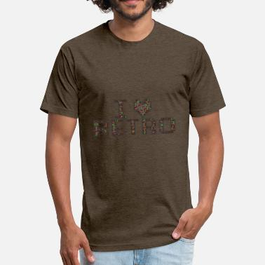 I Love Retro i love retro - Fitted Cotton/Poly T-Shirt by Next Level