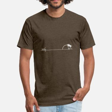 Surfing Surf - Fitted Cotton/Poly T-Shirt by Next Level