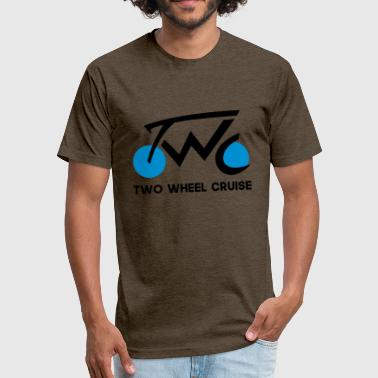 The Vlog Life Two Wheel Cruise (black text) - Fitted Cotton/Poly T-Shirt by Next Level