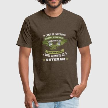 Military Veterans Veteran Military - Fitted Cotton/Poly T-Shirt by Next Level