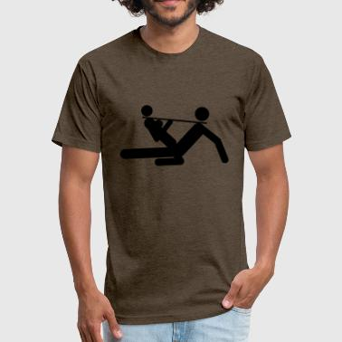 Sex positions - Fitted Cotton/Poly T-Shirt by Next Level