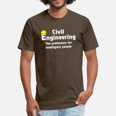Electrical Design Engineer Smart Civil Engineer White Text - Fitted Cotton/Poly T-Shirt by Next Level