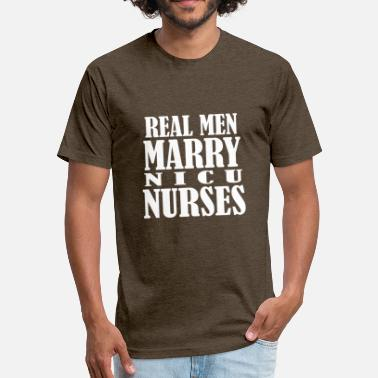 Nicu Nurse Gift nicu nurses - Fitted Cotton/Poly T-Shirt by Next Level