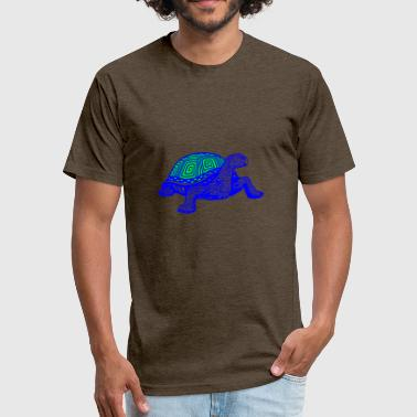 GIFT - TURTLE BLUE - Fitted Cotton/Poly T-Shirt by Next Level
