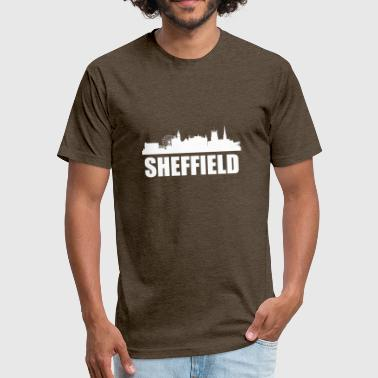 Sheffield Skyline - Fitted Cotton/Poly T-Shirt by Next Level