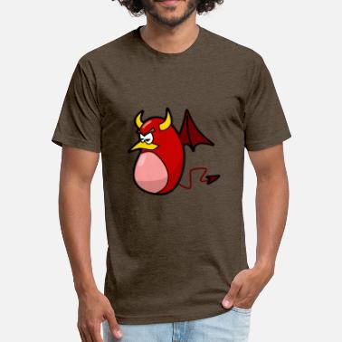 Hell Fire teufel devil monster hell hoelle fire feuer - Fitted Cotton/Poly T-Shirt by Next Level