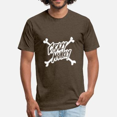 Crazy Monkey Crazy monkey - Fitted Cotton/Poly T-Shirt by Next Level
