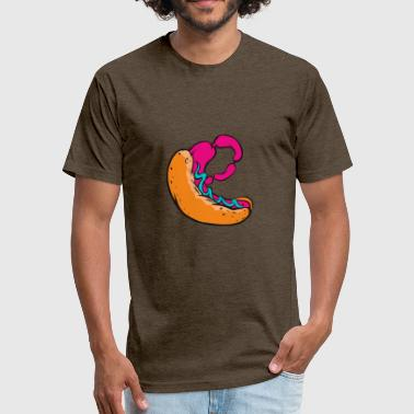 hot dog - Fitted Cotton/Poly T-Shirt by Next Level