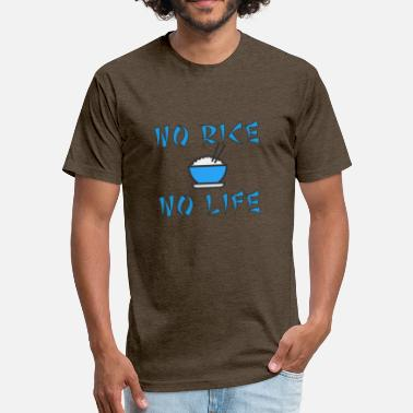 No Rice No Life No rice no life - Fitted Cotton/Poly T-Shirt by Next Level