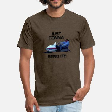 Enticer Just Gonna Send It Larry Enticer Tee Shirt - Fitted Cotton/Poly T-Shirt by Next Level