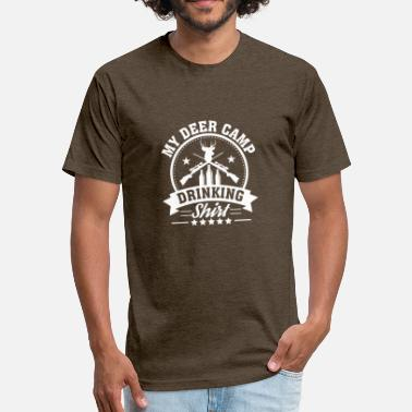 Hunting Camp My Camp Deer Hunting Drinking Love Gift - Unisex Poly Cotton T-Shirt