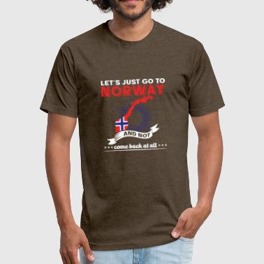 Lets just go to Norway - Fitted Cotton/Poly T-Shirt by Next Level