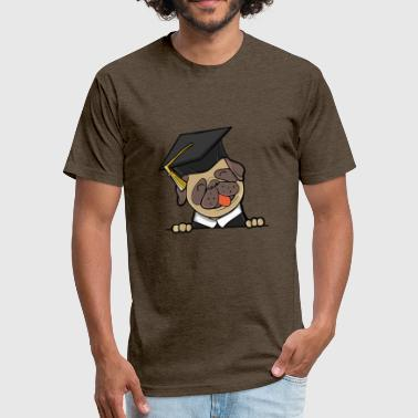 Funny-graduation-gift Dog graduate - Funny Graduation Gift - Fitted Cotton/Poly T-Shirt by Next Level