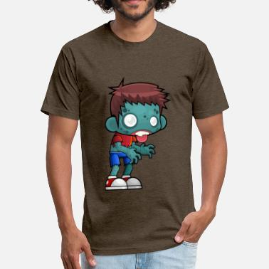 Plants Vs Zombies Zombie vs. plants - Fitted Cotton/Poly T-Shirt by Next Level