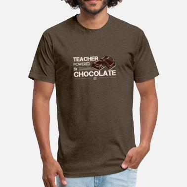 Powered By Chocolate Teacher Power By Chocolate Chocolate Teacher - Unisex Poly Cotton T-Shirt