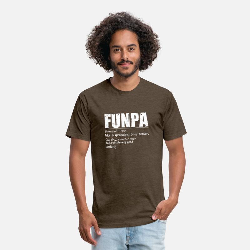 2de23d85 Novelty T-Shirts - Funny FUNPA Fun Grandpa Novelty T Shirt - Unisex Poly  Cotton