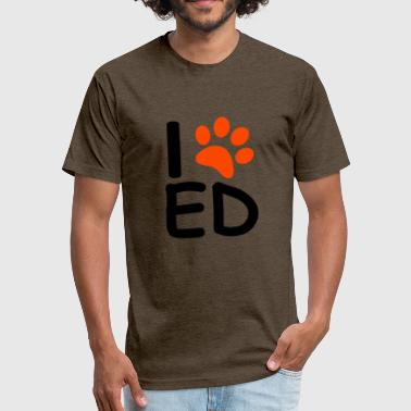 Ed Sheeran For ed sheeran logo - Fitted Cotton/Poly T-Shirt by Next Level