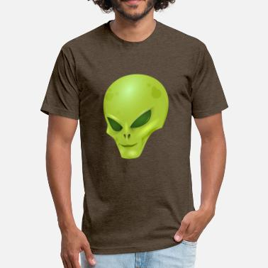 Alien-face alien face - Fitted Cotton/Poly T-Shirt by Next Level