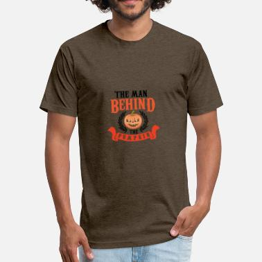 Thanksgiving Satire The man behind the pumpkin - Fitted Cotton/Poly T-Shirt by Next Level