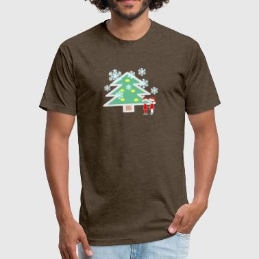 Snowing - Fitted Cotton/Poly T-Shirt by Next Level