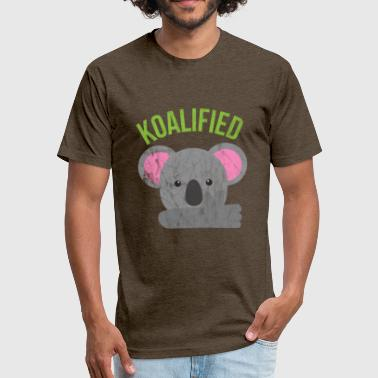 Animal Puns - Koalified - Fitted Cotton/Poly T-Shirt by Next Level