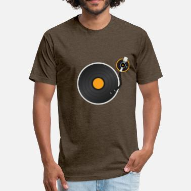 Vinyl Vintage Record Rave T-Shirt for Men and Wome - Fitted Cotton/Poly T-Shirt by Next Level