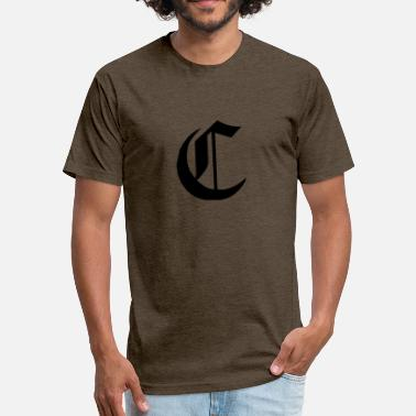 C Name C Alfabet For Your Initials Name - Fitted Cotton/Poly T-Shirt by Next Level