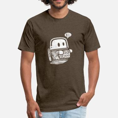 Astro Geek Astro Ghost - Fitted Cotton/Poly T-Shirt by Next Level