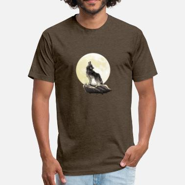 Howl At The Moon HOWL AT THE MOON - Fitted Cotton/Poly T-Shirt by Next Level