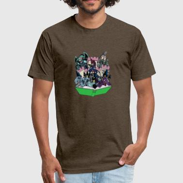 Toons World of Toons - Fitted Cotton/Poly T-Shirt by Next Level