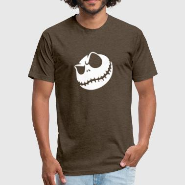 Evil Jack Skellington Face - Fitted Cotton/Poly T-Shirt by Next Level