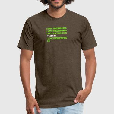 I Hate Programming I Hate Programming - Fitted Cotton/Poly T-Shirt by Next Level