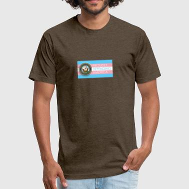 Transgender Fuck Transgender Navy - Fitted Cotton/Poly T-Shirt by Next Level