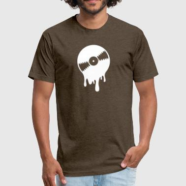 Melting Record Melting Vinyl Record - Fitted Cotton/Poly T-Shirt by Next Level
