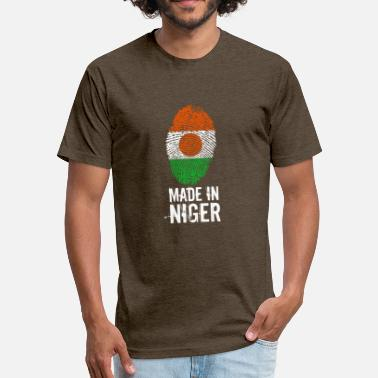 Niamey Made In Niger - Fitted Cotton/Poly T-Shirt by Next Level