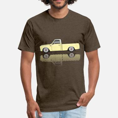 Custom Car 67 68 short Yellow - Fitted Cotton/Poly T-Shirt by Next Level