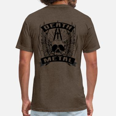 Death Metal Black Metal Death metal - Fitted Cotton/Poly T-Shirt by Next Level