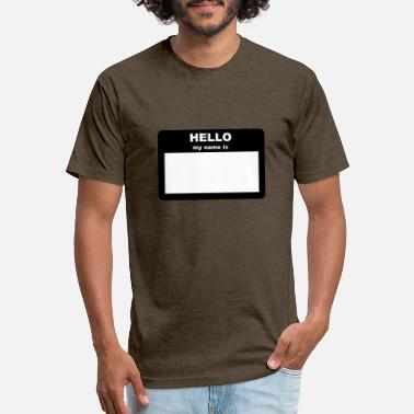 My Name Name Tag - HELLO my name is - Unisex Poly Cotton T-Shirt