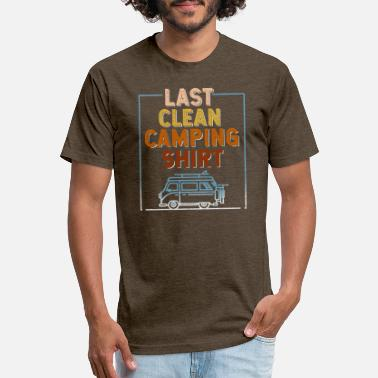 Last Clean Camping Shirt Funny Gift Camper Caravan - Unisex Poly Cotton T-Shirt