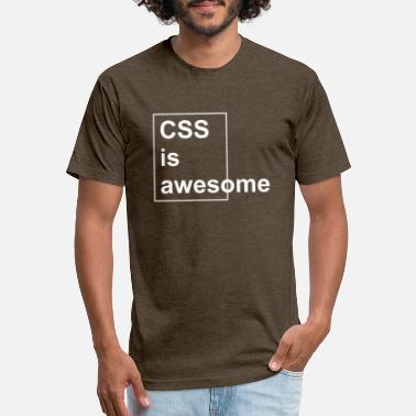 Css CSS is awesome (white) - Fitted Cotton/Poly T-Shirt by Next Level