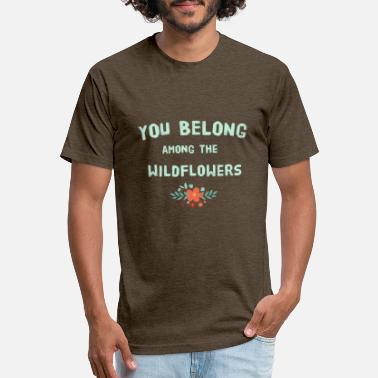 Tom You Belong Among The Wildflowers - Unisex Poly Cotton T-Shirt